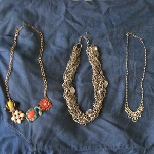 Lot of 3 Statement Necklaces